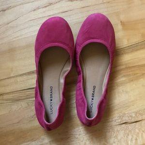 Pink Lucky Brand Flats